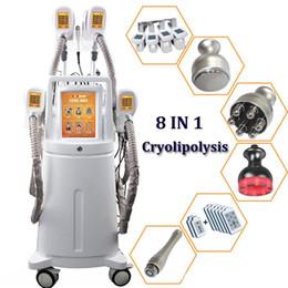 2019 crio laser Máquina de congelación de grasas Cryolipolysis con 4 asas para adelgazar Zeltq Cryo Lipo Celluite Tratamiento para el cuerpo 8 en 1 Dispositivo de eliminación de grasa con láser de cavitación crio laser baratos