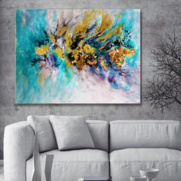 aquarelle paysage art Promotion Lightning Bolt Toile Affiche Abstraite Mur Art Paysage Affiches et Gravures Aquarelle Décor Marbre Peinture Photos Encadrée