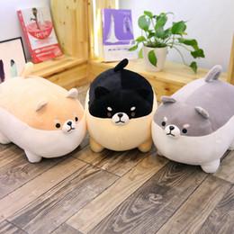 Juguetes de cosas kawaii online-40 / 50cm Cute Fat Dog Plush Toy Stuffed Soft Kawaii Corgi Chai Dog Cartoon Pillow Lovely Gift para niños EEA539