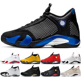Caixas de doces amarelas on-line-New 14 14 s homens basquete sapatos amarelo candy cane vermelho preto branco mens trainer esportes athletic tênis tamanho 41-47 atacado
