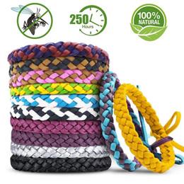 camping-armbänder Rabatt Leder geflochtene Mückenschutz Armband, 100% natürlicher Schutz sicher für Kinder / Erwachsene, Indoor Outdoor Camping Wandern Schutz