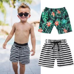 Прохладный ремни мальчиков онлайн-Meihuida Марка Cool Kids Baby Boys Шорты Цветочный Полосатый Принт Cool Beach Bottoms Летний пояс Малыша Новые Шорты Горячие Продажа