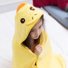 Детская одежда онлайн-Детские мультфильм Pattern Hooded Полотенце Wrap Robe плаща Купание бассейн Халат UYT Магазин