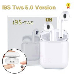 Новые I9S 5.0 TWS Bluetooth Беспроводные Наушники Мини-Наушники Ifans Стерео Музыка In-Ear Воздушные Гарнитуры Стручки Для IPhone Android ПК от