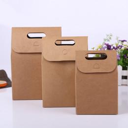 оптовая продажа подарочной коробки крафт Скидка Еда хлеб зеленый крафт-бумага коробка подарочная коробка складной сумка крафт-ручка сумка Оптовая BG427