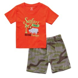 good quality 2019 boys baby sets newborn clothing Hippo Letter Print  Tops+Camouflage Print Shorts Outfits Sets Drop Shipping 2900af65f6f5