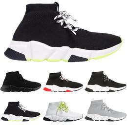 Meias on-line-Balenciaga homens de moda de luxo sapatos de mulheres meias lace-up preto branco red plataforma designer mens formadores formadores de velocidade sneakers casuais tamanho 36-45