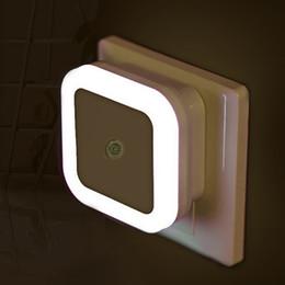plug mini night lights Desconto 6 PCS / Caixa de Luz LED Night Light Mini Controle de Sensor de Luz 110 V 220 V UE EUA REINO UNIDO Plug Lâmpada De Poupança De Energia Para Sala de estar Quarto iluminação