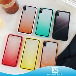Caso di arcobaleno trasparente di iphone online-Per il nuovo iPhone 11 Pro XR X XS MAX Rainbow Clear TPU Soft Protector Full Package Cover Gradiente trasparente Colore antiurto Custodia per telefono