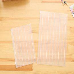 pasta de bill Desconto 2 peças / pacote Ambientalmente amigável arquivo transparente organizador saco A4 puxar lado bill bill pasta de armazenamento de dados