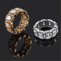 dual-chip-handys Rabatt Hip Hop Ringe Schmuck Luxus 18 Karat Vergoldet Cluster Ringe Grade Qualität Glänzende Zirkon Gepflasterte Mode Hochzeit Ringe Großhandel LR105