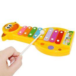 instruments de musique sons Promotion Bébé 8-Note Xylophone Musical Maker Jouets Xylophone Musique Instrument Son Jouets Intelligence Jouets Nouveauté Articles CCA11733 120pcs