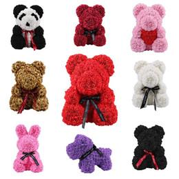 Cerimonia nuziale della panda online-2019 Soap Foam Rose Bear Doll Rose Teddy Coniglio Panda Love Flower Artificiale Matrimonio Compleanno Capodanno San Valentino Regalo Per Le Donne J190711