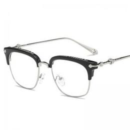 nerd brille klare linsen Rabatt Unisex Mode Retro Klare Linse Nerd Frame Eyewear Brillenfassungen Halbrahmen Designer Brillen LLA200