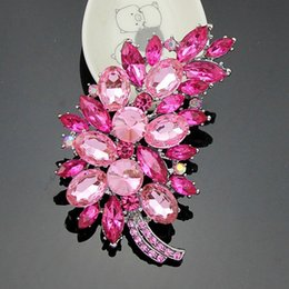 rhinestone brooches for sale Coupons - New Fashion Hot sale Clear Crystal Peacock Feather Rhinestone Elegant Wedding Brooch Pin For Women