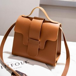 wholesale designer crossbody bags women Promo Codes - Vintage Women Small PU Leather Bags Girls Crossbody Handbags Womens Phone Bags Designer 2019 New Shoulder Bag Cheap Wholesale