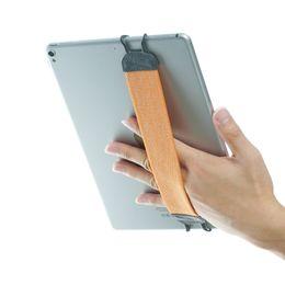 Maçã ipad laranja on-line-TFY antiderrapantes Camada Dupla alça de mão Elastic Acessórios Suporte Tablet para iPad / Samsung Galaxy Tab Nota - laranja