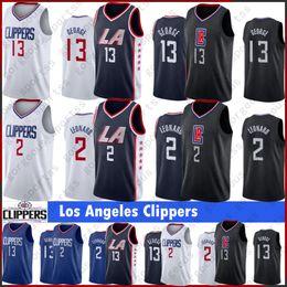 Camisetas de logo online-NCAA Kawhi Leonard 2 hombres Jerseys Paul 13 jerseys del baloncesto baloncesto George cosido Logo S-XXL en la acción 2019 Nuevo