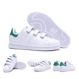 Nuevos niños smith hijos de padres e hijos zapatos casuales para bebé niña moda stan sneaker blanco multi correr zapato entrenador al aire libre 22-35 desde fabricantes