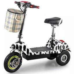 baterías de europa Rebajas Triciclo eléctrico portátil mini plegable masculino y femenino bicicleta adulto batería coche fábrica ventas directas ATV