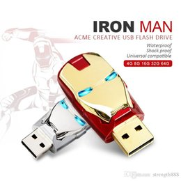 eisen mann fahren Rabatt Wirkliche Kapazität Avengers Iron Man Led USB-Stick 32GB ~ 64GB