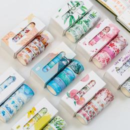 5 Adet / kutu Güzel Çiçek Washi Bant DIY Dekorasyon Scrapbooking Planlayıcısı Maskeleme bandı Yapışkan Etiket Çıkartmaları Kırtasiye 2016 nereden gotik maskeler tedarikçiler