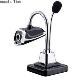2019 registrazione del computer portatile Angala Tian USB Microfono Desktop HD Webcams Web Camera Night LED incorporata per computer PC Laptop Video Recording / Call registrazione del computer portatile economici