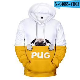 Ropa de niños franceses online-del niño fresco con capucha del lobo francés Bulldog 3D Mens Boys Geniales sudaderas con capucha diseñador ropa de los niños sudadera otoño invierno