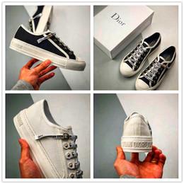 2020Shoes Dior туфли на высоком каблуке ткань обувь женщины мужчины Дизайн папа обувь Мода удобная классический Кашемир20 от