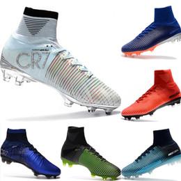 2019 Mercurial CR7 Superfly FG Scarpe da calcio per bambini Magista Obra 2 Youth Soccer Cleats Cristiano Ronaldo 35 45