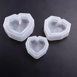 Espejo Molde De Silicona Forma De Corazón Gota De Pegamento Moldes De Decoración De Pasteles Moldes Para Hornear Grandes Medianos Y Pequeños Para