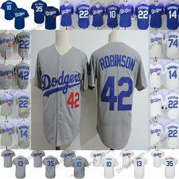 a1e0ac298a1 Dodgers Trikots im Ruhestand Los Angeles   42 Jackie Robinson 23 Kirk  Gibson 32 Sandy Koufax 34 Fernando Valenzuela Vintage Blau Grau Weiß Retro  günstig ...
