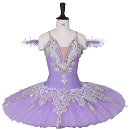 Ballet clásico profesional Tutu Performance Lila Fairy Stage Costume Child Sleeping Beauty Plato profesional Ballet Tutu Mujeres desde fabricantes