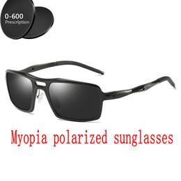 d28c30e472 myopia polarized sunglasses Custom Made Myopia Minus Prescription Lens -1  to -6 Square mirror Aluminum magnesium sunglasses FML polarized prescription  ...