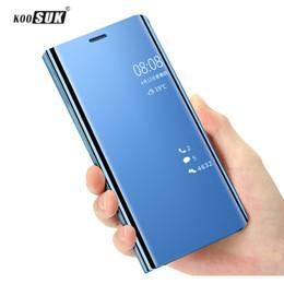 Мобильный полнофункциональный телефон онлайн-Оптовая 5T Case Роскошный Сенсорный Флип Стенд Крышка Для 360 Зеркало Full Shell Leaher Оригинальные Чехлы для Мобильных Телефонов для One Plus 5T Coque