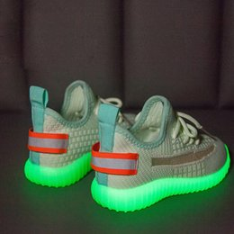 Zapatos casuales guerreros online-Moda Iluminación LED Terracotta Warriors Toddler Kids Zapatillas deportivas nuevas Zapatillas deportivas Pour Enfant boys girls Casual Trainers