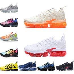 sports shoes b2911 65cfa Chaussure de marque Triple Black TN TN Plus Chaussures de running Designer  PURE PLATINUM Homme Baskets Gris Noir Rouge Shark Tooth Trainer Baskets de  sport