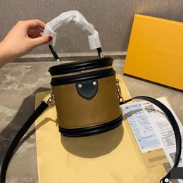 Bolsos de cuero de las mujeres online-Mini bolsos de lujo con estampado clásico de flores, bolsos, bolsos, bolsos de cuero genuino, barril, bolsos cosméticos, bolsos de diseñador para mujer