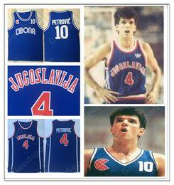 JUGOSLAVAIJA CALIENTE 10 Drazen Petrovic Jersey Yugoslavia Mens Basketball Jersey Cosido VintageS Classic SPORT 4 Sibenka desde fabricantes