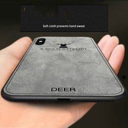 Adapté à l'iphone xs max, housse de téléphone mobile en tissu imprimé élan, pomme XR X 7 8 6 s, couvercle de protection, sac complet en tissu doux ? partir de fabricateur