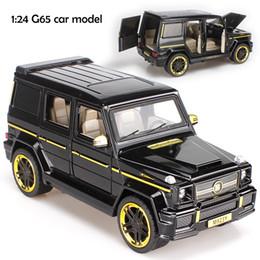Большой звук автомобиля онлайн-1:24 Diecast большой Оттяните звук и свет сплава автомобиля Детские игрушки BRABUS AMG G65 модель автомобиля коллекционная