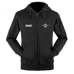 2019 магазины с капюшоном DAF логотип молнии толстовки пальто на заказ 4S магазин молнии с капюшоном куртки скидка магазины с капюшоном