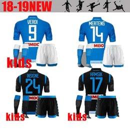 8b8669b39 kids kits 2019 Napoli Soccer Jersey 18 19 Naples home Away Soccer Shirt  2018 Customized  14 MERTENS  17 HAMSIK  24 INSIGNE Football Uniform