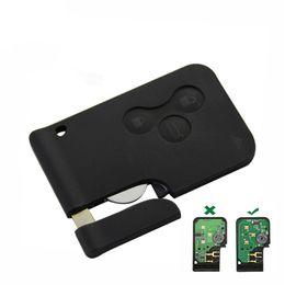 3 кнопки 433 МГц ID46 PCF7926 Чип с аварийным вставным лезвием Умный дистанционный ключ для карты Renault Megane Scenic 2003-2008 cheap smart renault от Поставщики умный renault