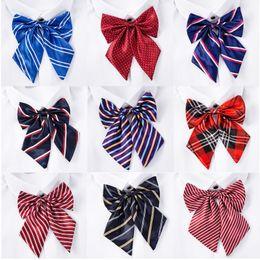 Cuello de rayas profesional collar flor señora pajarita azafata banco hotel trabajo bufanda de seda corbata uniforme escolar desde fabricantes