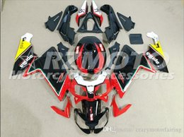 rs4 kit Promo Codes - Injection mold Fairing KIT for Aprilia RS4 125 06 07 08 09 10 11 RS4 RSV 125 2006 2009 2011Black Red ABS Fairings set+3gifts APP7