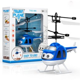 toy 3d helicopter Promo Codes - Mini Infrared Sensor Helicopter Aircraft 3D Gyro Helicoptero Electric Micro Helicopter Toy Gift for Kids