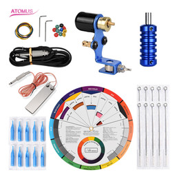 2019 billige wickelmaschinen Professionelle Rotary Tattoo Gun Maschinenstift Kits Komplette Kits Cartridge Tattoo Maschine Liner und Shader Set Spezial Rotary Pen Kit