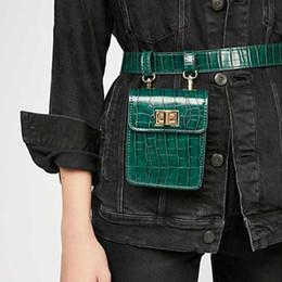 2019 cinturones de cocodrilo Nuevo patrón de cocodrilo bolsos de cintura de las mujeres Pu de cuero Fanny Pack Moda Cinturón Bolsa Mujer Mini paquete de la cintura Mensajero Diseñador Bolsa cinturones de cocodrilo baratos