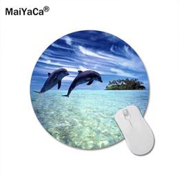 2019 ratón delfín MaiYaCa Dolphin Ronda 200 * 200 * 2 mm alfombrilla de ratón Mousepad del ordenador portátil PC Comfort Gaming Mouse Pad rebajas ratón delfín